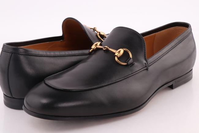 Gucci Black Jordaan Leather Loafers Shoes Gucci Black Jordaan Leather Loafers Shoes Image 1