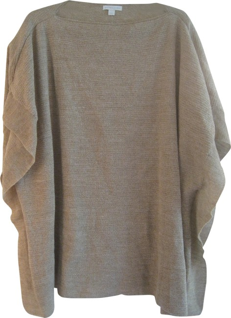 Item - Camel and White Marled Poncho Sweater Tunic Size 14 (L)