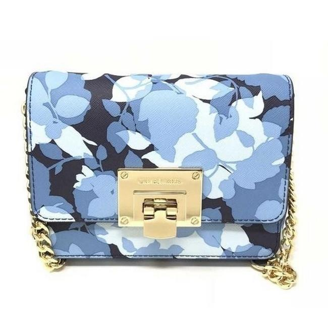 Item - Tina Small Blue Leather Clutch