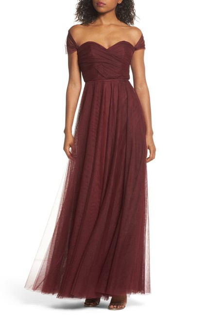 Item - Burgundy/Plum Julia Tulle Convertible Gown Long Formal Dress Size 10 (M)