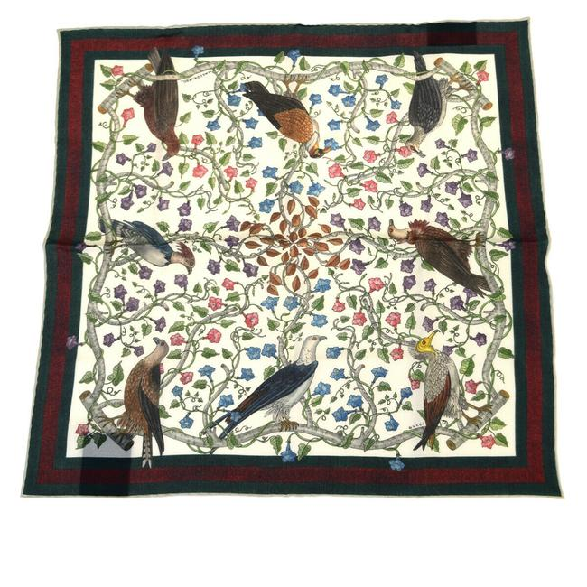 Item - Green Sherry Bird Pattern Silk Scarf/Wrap