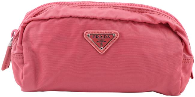 Item - Pink Nylon Pouch Cosmetic Bag