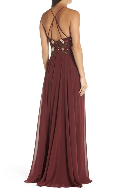 Jenny Yoo Hibiscus Multi Sophie Embroidered Chiffon Gown Long Formal Dress Size 10 (M) Jenny Yoo Hibiscus Multi Sophie Embroidered Chiffon Gown Long Formal Dress Size 10 (M) Image 2