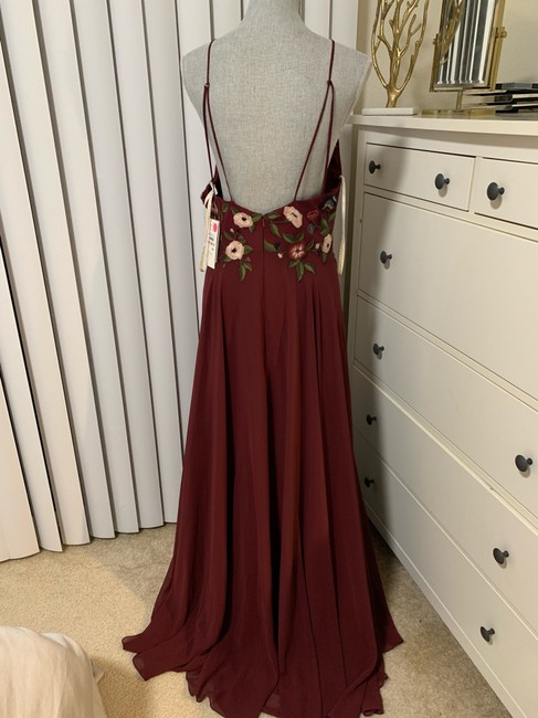 Jenny Yoo Hibiscus Multi Sophie Embroidered Chiffon Gown Long Formal Dress Size 10 (M) Jenny Yoo Hibiscus Multi Sophie Embroidered Chiffon Gown Long Formal Dress Size 10 (M) Image 6