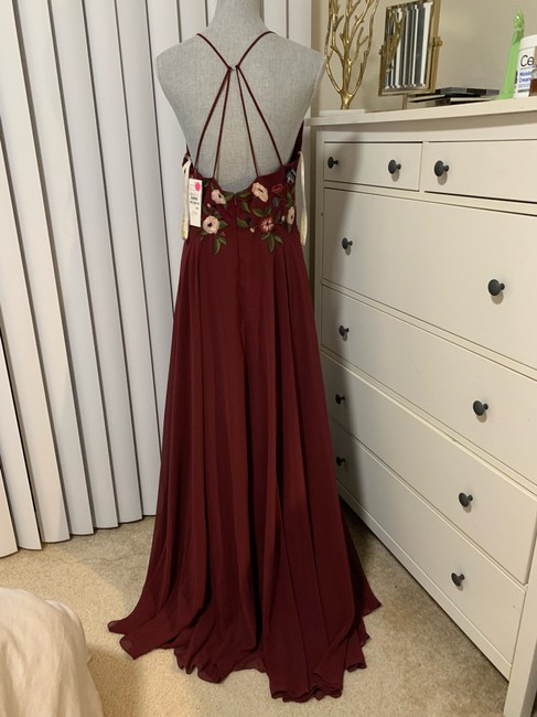 Jenny Yoo Hibiscus Multi Sophie Embroidered Chiffon Gown Long Formal Dress Size 10 (M) Jenny Yoo Hibiscus Multi Sophie Embroidered Chiffon Gown Long Formal Dress Size 10 (M) Image 7