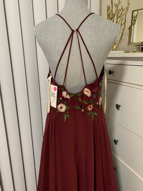 Jenny Yoo Hibiscus Multi Sophie Embroidered Chiffon Gown Long Formal Dress Size 10 (M) Jenny Yoo Hibiscus Multi Sophie Embroidered Chiffon Gown Long Formal Dress Size 10 (M) Image 8