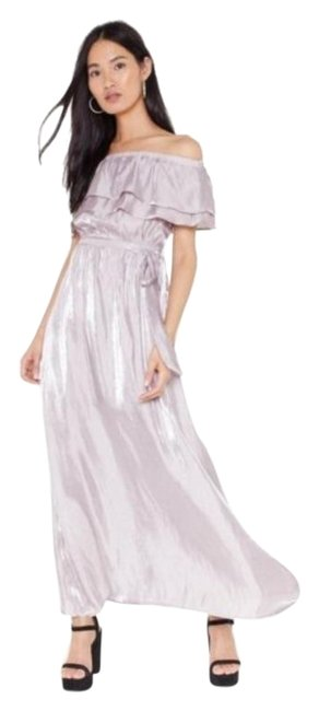 Item - Purple Take It Off The Shoulder Maxi Long Night Out Dress Size 8 (M)