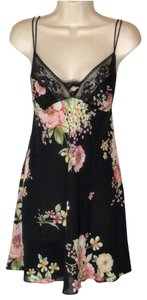 Oscar de la Renta short dress black and pink on Tradesy
