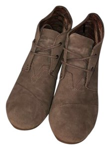 TOMS Taupe Wedges