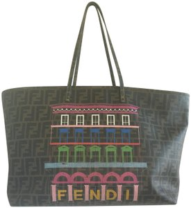 Fendi Shoulder Weekend Satchel Hobo Messager Tote in Brown