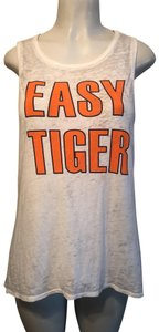 Chaser Top White with Orange