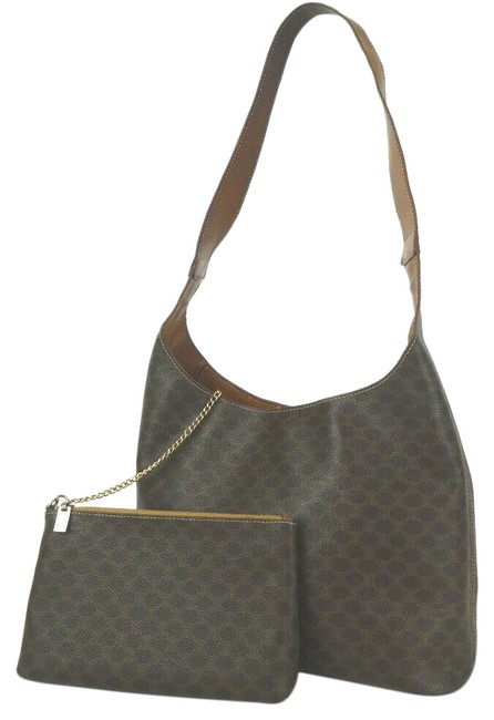 Item - Macadam Hobo With Monogram Pouch 872679 Brown Coated Canvas Shoulder Bag