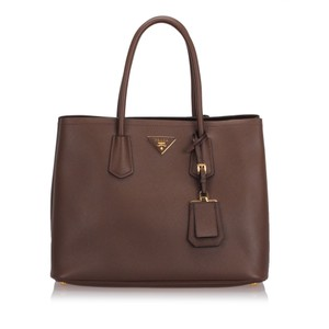 Prada 0dprto010 Vintage Leather Tote in Brown