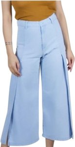 LACAUSA Flare Leg Jeans-Light Wash