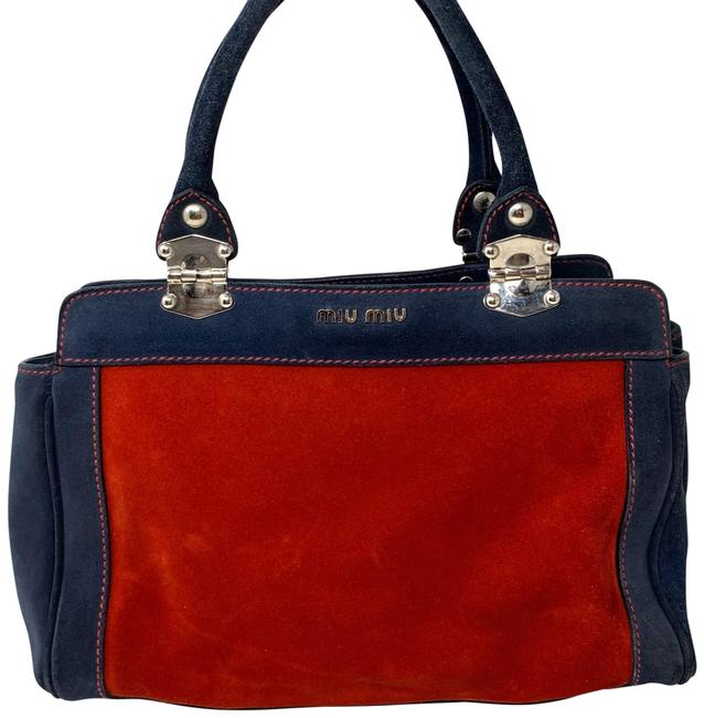 Item - Mini Red Blue Suede Satchel