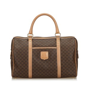 Celine 9gcetr001 Vintage Leather Brown Travel Bag