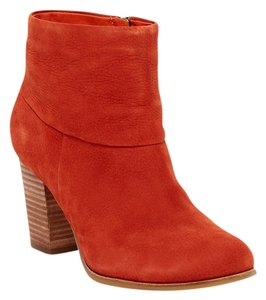 Cole Haan Picante Red Nubuck Orange Boots