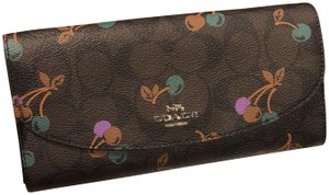 Coach F3156 Slim Envelope Wallet Canvas with Cherry
