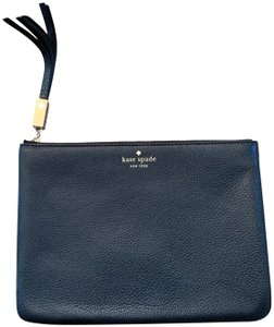 Kate Spade Pouch Leather Black Clutch