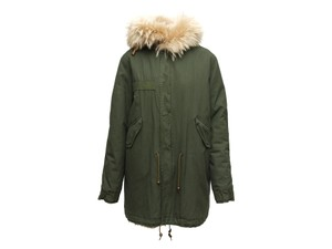 Mr & Mrs Italy Army Fox Hooded Trimmed Fur Coat