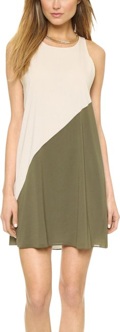 Item - Cream/Olive Twist Marion Back Short Night Out Dress Size 2 (XS)