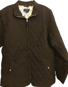 Lands' End brown with pink lining Jacket
