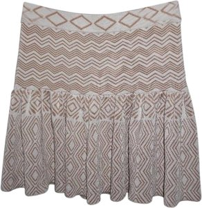 Torn by Ronny Kobo Bandage_stretch Mint_condition Mini Skirt beige, ivory