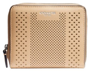 Coach Coach Bleecker Striped Perforated Wallet