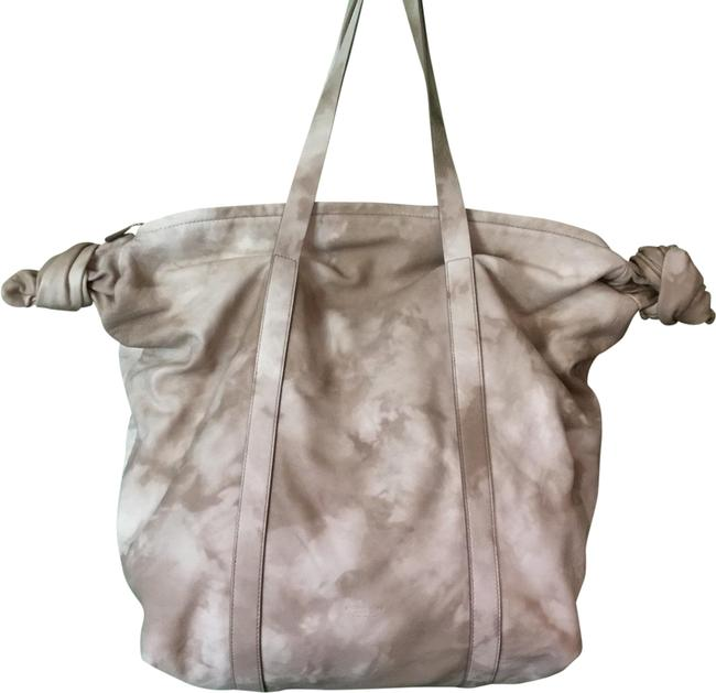 "Item - ""cali"" Sand and Cream Calfskin Leather Tote"