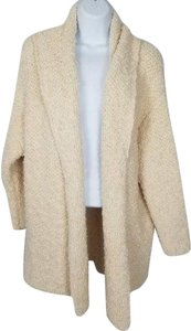 Free People Oversized Popcorn Knit House Coat Textured Knit Open Front Cardigan