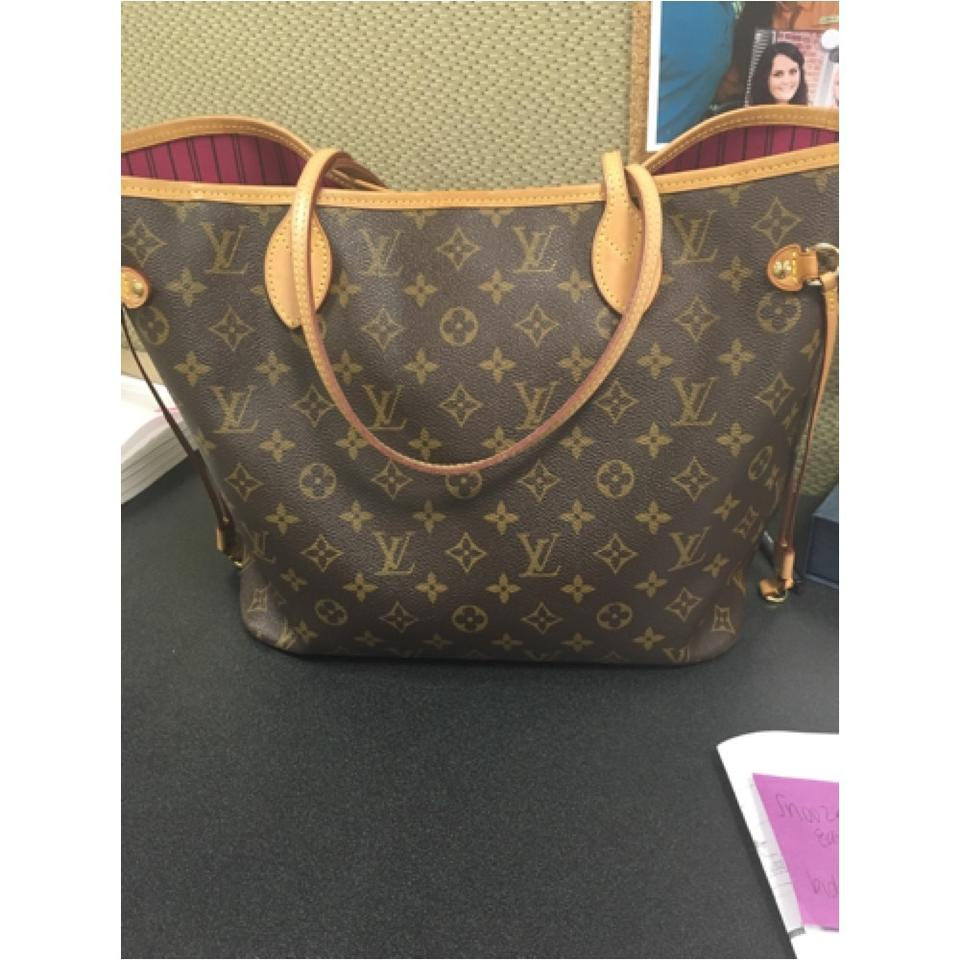 1993535c65b6 Louis Vuitton Neverfull Mm with Pivoine (Fuchsia) Interior Brown Monogram  Coated Canvas Leather Shoulder Bag - Tradesy