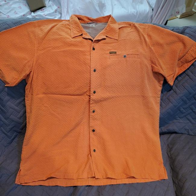 Item - Orange XL Men's Button-down Top Size 16 (XL, Plus 0x)