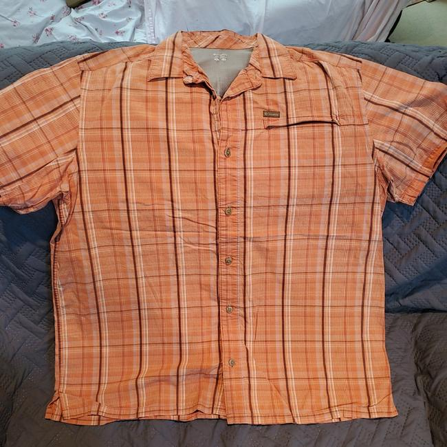 Item - Orange Men's Button-down Top Size 16 (XL, Plus 0x)