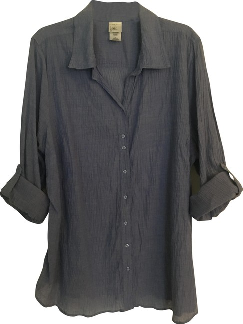 Item - Blue Tunic/Blouse/Cover Up Tunic Size 20 (Plus 1x)