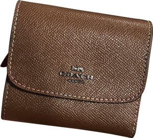 Coach F31570 Small Wallet with Rainbow Stitching