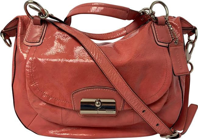Item - Crossbody Kristin Round Satchel 19297 Pink Patent Leather Hobo Bag