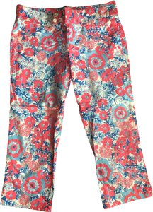 Lilly Pulitzer Capris multi. pink, coral, blue, turquoise