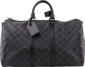 Louis Vuitton Lv Keepall Bandouliere Cheap Black Travel Bag