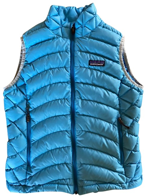 Item - Sky Blue/ Blue Women's Down Vest Size 2 (XS)