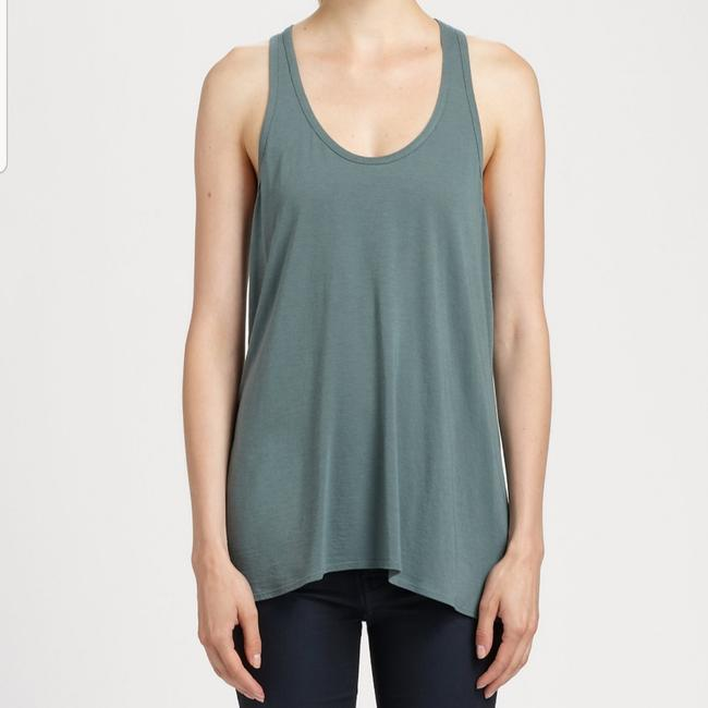 Helmut Lang Meadow/Olive Green Jersey Kinetic High-low Sleeveless Tank Top/Cami Size 0 (XS) Helmut Lang Meadow/Olive Green Jersey Kinetic High-low Sleeveless Tank Top/Cami Size 0 (XS) Image 1