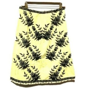 For Joseph Damask A-line Skirt Yellow Black