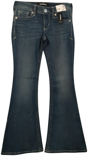 Item - Blue None Flare Leg Jeans Size OS