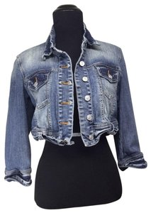 Love Culture Crop Distressed Womens Jean Jacket