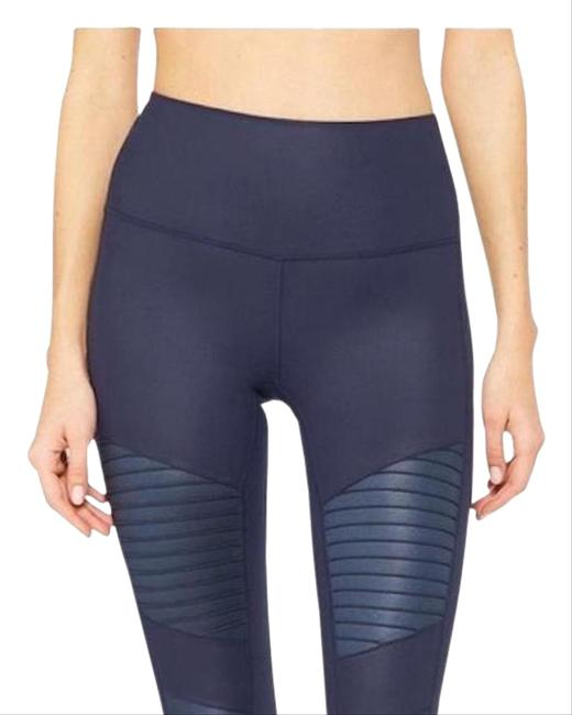 Item - Navy High Waisted Moto In Activewear Bottoms Size 4 (S, 27)