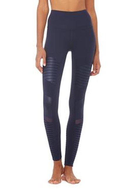 Item - Navy High Waisted Moto In Activewear Bottoms Size 6 (S, 28)