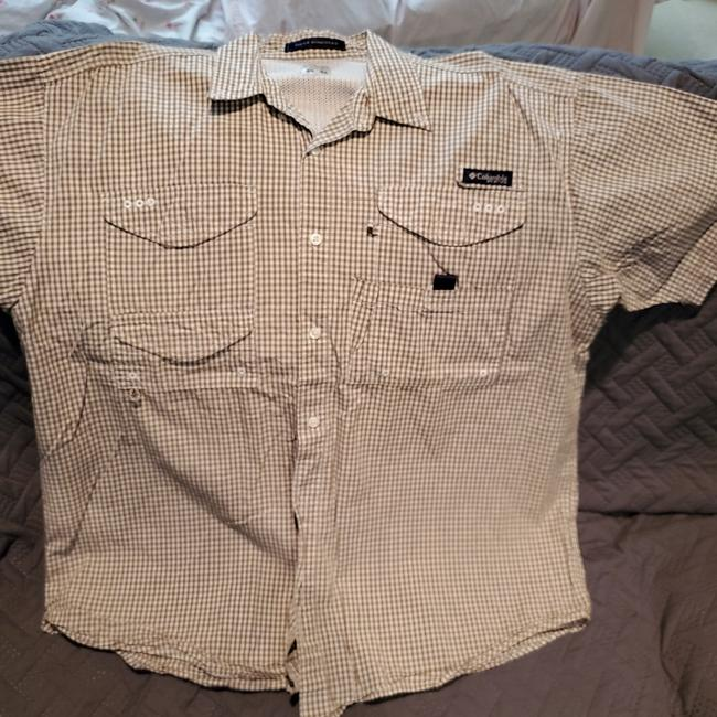 Item - Brown and White Super Bonehead Button-down Top Size 14 (L)
