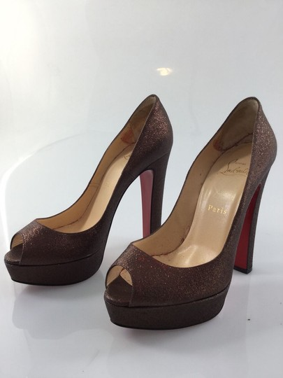 Christian Louboutin Red Bottoms bronze Pumps