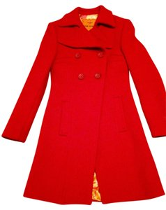 Miss Sixty Double-breast Pea ; Red Pea Coat