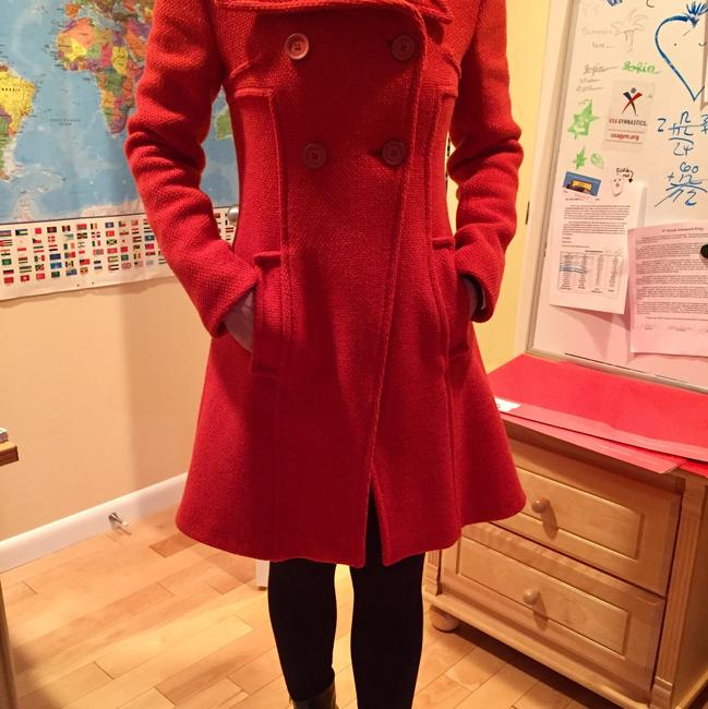 Miss Sixty Double-breast ; Red Pea Coat