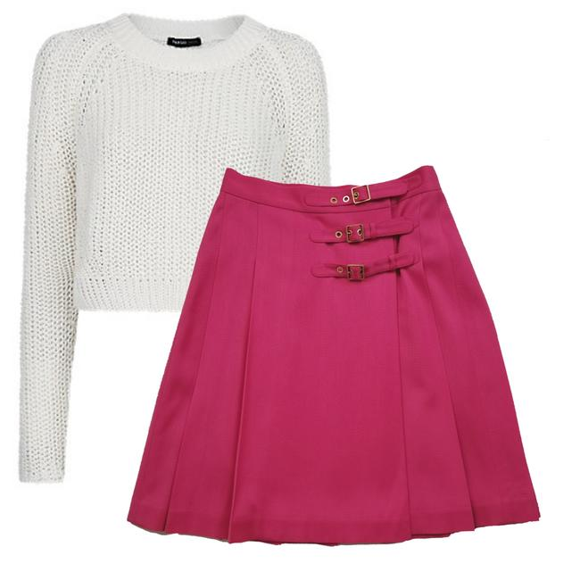 Item - Pink Wrap Buckle The Rules Skirt Size 4 (S, 27)